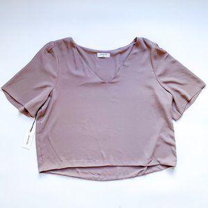 Aritzia Short-Sleeve Cropped Blouse